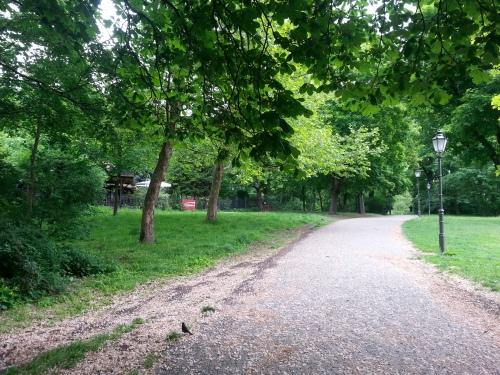 Lauf durch den Volkspark Friedrichshain